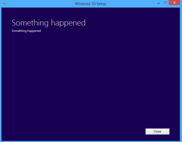 Windows errore non spiegato