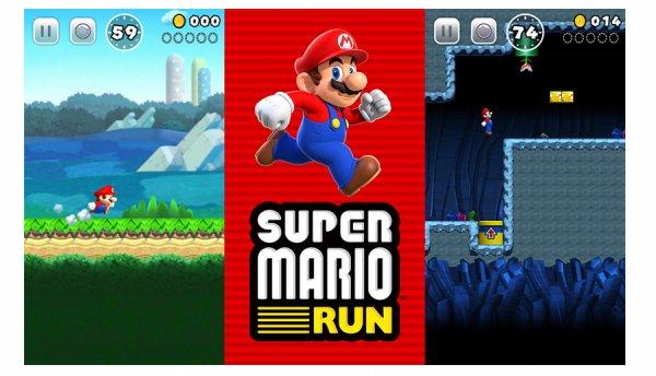 super mario run screen