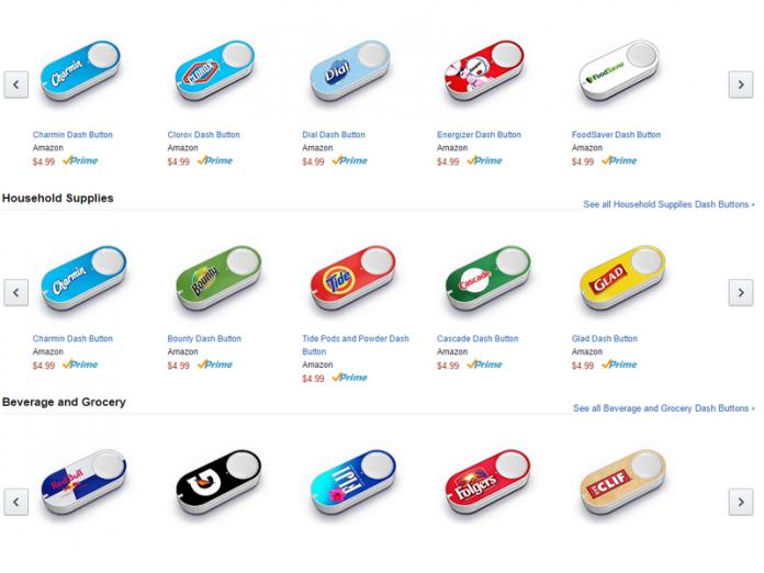 Dash Button di Amazon semplificano lo shopping con acquisti one-click